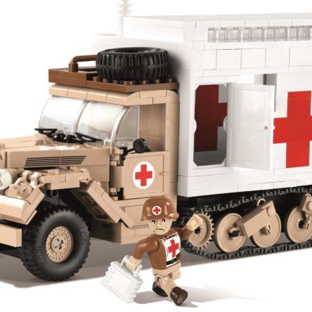 Konstruktionsspielzeug kleine Armee Ford V3000S Maultier Krankenwagen COBI